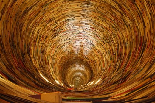 The vast number of books in the world...