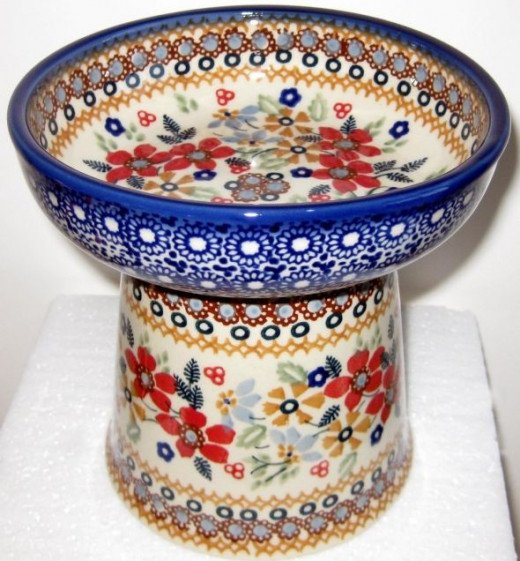 Polish Pottery Raised Dish is available at