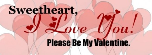 One of several Valentine's Day facebook timeline cover art banners