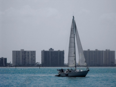 Sailing Off Clearwater Beach