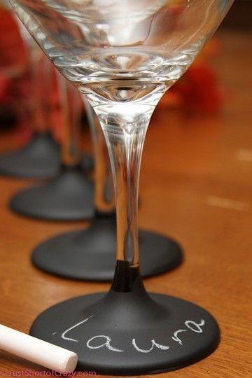 Blackboard wine glasses