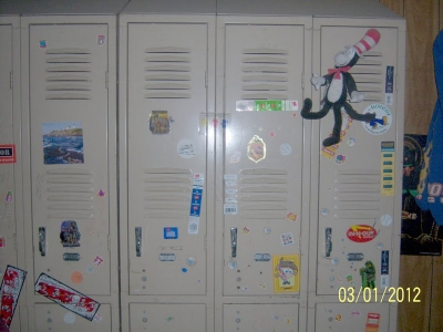 Lockers are a great storage idea - just  don't open them!