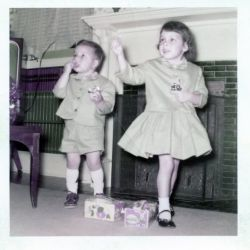 Rickie and Francie, 1955