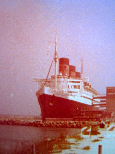 RMS Queen Mary - Long Beach, California  Circa 1977.