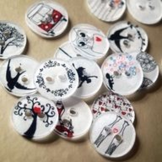 My button crafts just got better. I found making molds with clay let me create my own buttons  but never gave a thought to Shrinky Dinks. Click on the source to the tutorial for a new way to create that special project.