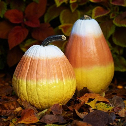 Just follow the link to this and other cleverly painted pumpkins,