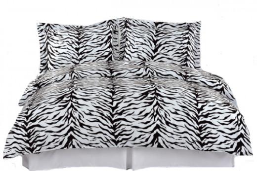 Zebra Print 3 Piece Duvet Cover Set