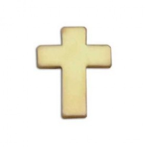 simple cross lapel pin