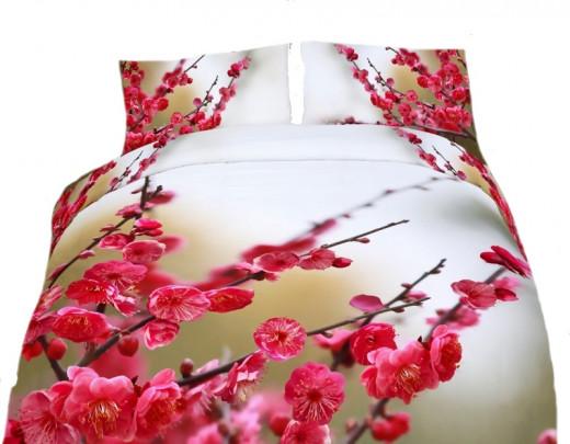 Redbud Blossom Duvet Cover Set