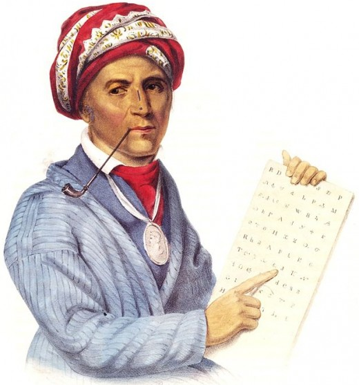 Chief Sequoyah and his writing system