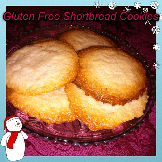 Gluten Free Low Carb Shortbread Cookies
