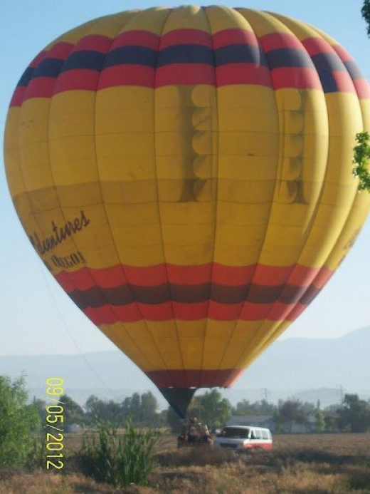 The also have a hot-air balloon experience based there.