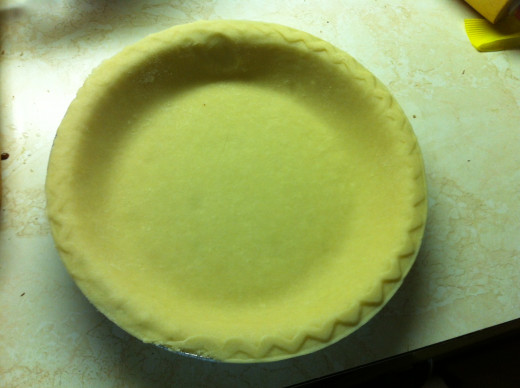 Pie shell is now at room temperature and ready to go.