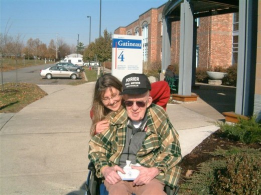 My Dad  and I at the Perley's Rideau Vetrans Health Centre