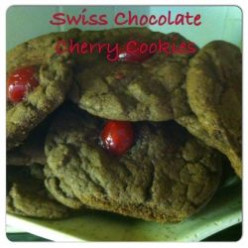 Swiss Chocolate Cherry Cake Box Cookies
