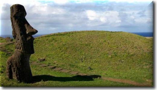 A Moai on Easter island