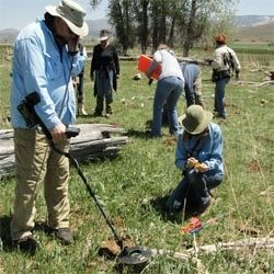 Relic dig near Fremnot's Fifth Expedition Campsite in 1854, near Fremont, UT