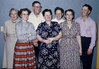 Dad on the right with all his sibling. 1954.