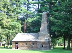Replica Drake Well engine house and derrick