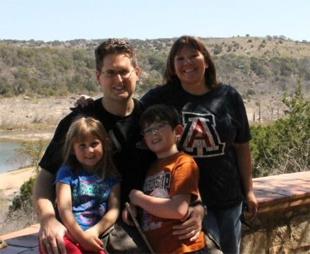Our youngest daughter, her husband, and their kids, our grandchildren.