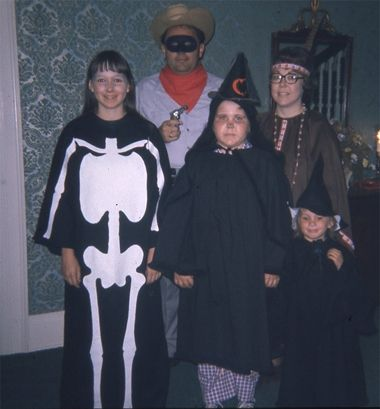 Halloween Costume party at Iowa Governor's mansion when our daughters were young.