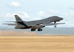 B-1B Lance takes off from Ellsworth AFB
