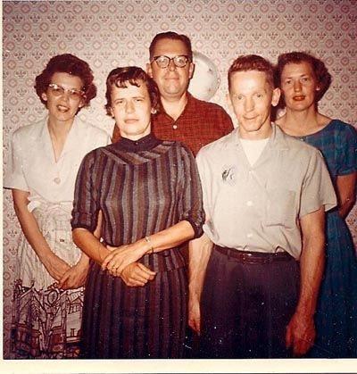 My mother-in-law, on left, with her four sibs