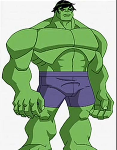 The Hulk in stretch pants. Makes more sense...but really?