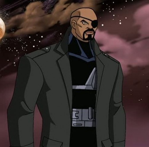 """Nick Fury Definitely a movie tie in with the """"Ultimate"""" Fury look."""