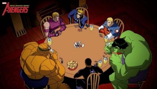 Avengers poker night