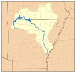 The White River in Arkansas and Missouri
