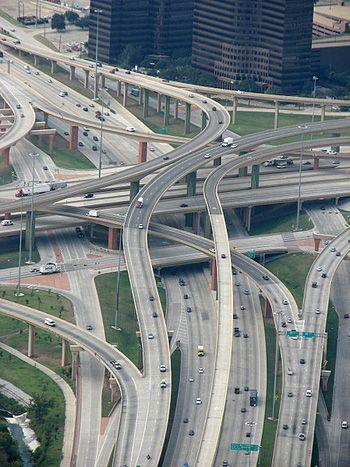 High Five (five levels) Interchange in Dallas