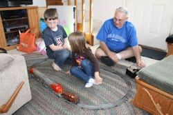 Show grandkids the old electric train