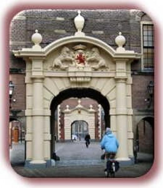 Entrance to Binnenhof, seat of Dutch Parliament