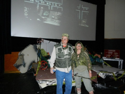 Doomsday 2012 emcees pose in the theater at BIFF