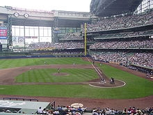 Miller field, home of the Milwaukee Brewers baseball team