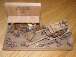 Livery and Blacksmith shop wood art