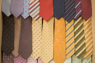 Now that your project is finished your father has a place to hang his ties on his new tie rack made by you.