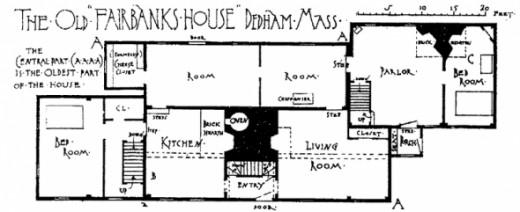 Floor Plan of Fairbanks House