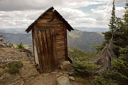 Privy on the Mountain - just a fascinating photo!  ;-)