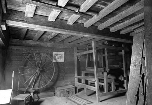 Second floor workroom in original portion of the home