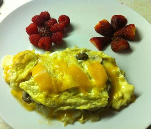 In an omelette