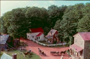 Aerial Shot of set of Avonlea