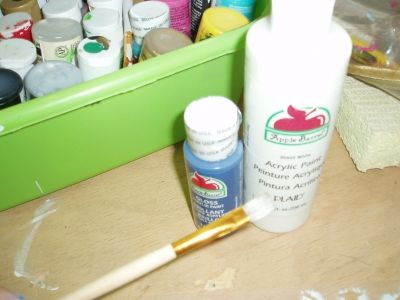 The Craft Paint and Brush I use