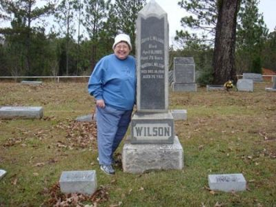 Wife, Nancy, finds the grave of relative in southern Mississippi after many years of searching; click for story link