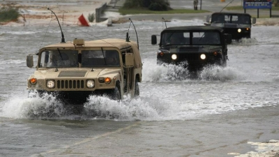 The Hummer Coming after a Category 2 Hurricane to My Town
