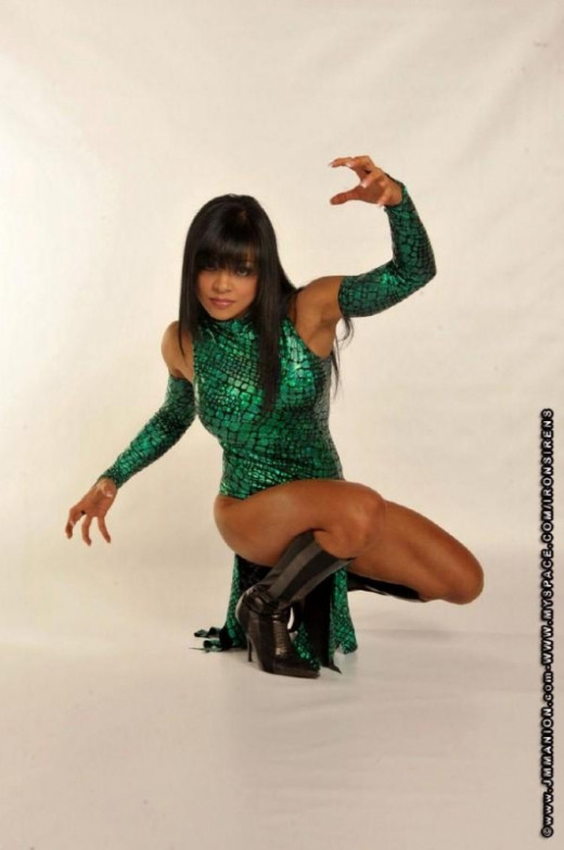 Sonia Gonzales as the Dark Diva Raptress