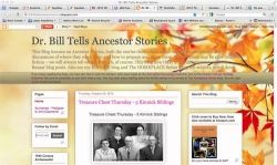 Screen Shot of Dr. Bill Tells Ancestor Stories blog