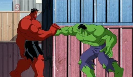 The Avengers-Nightmare in Red-Red Hulk-Hulk
