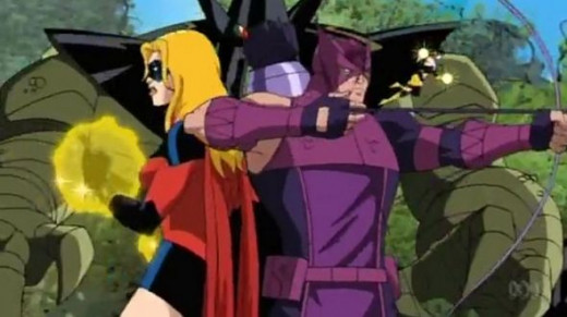 The Avengers-Ms Marvel-Hawkeye-Wasp